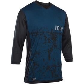 ION Scrub AMP Bike Jersey Shortsleeve Men blue/black